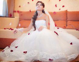 Свадебное платье, цвет айвори, размер 42-44, дизайнер Оксана Муха