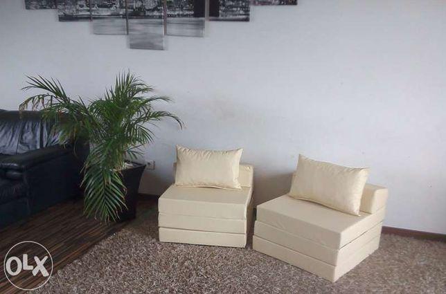 Materac składany rozkładany fotel sofa łóżko pufa Mosina - image 7