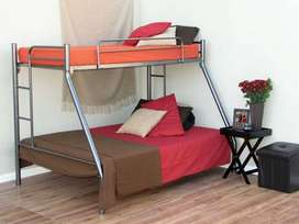 Tribunk Bed - Single over DOUBLE BED