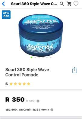 SCURL 360 Style Wave Control Pomade