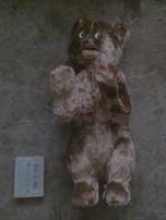 заводной медведь плюшевый,рабочий,из времён ссср