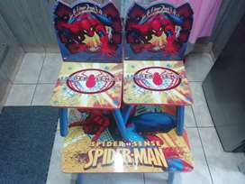 Delta spiderman table and chairs (Negotiable )
