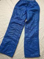 Синие лыжные штаны S