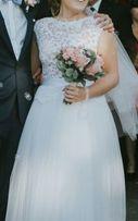 Suknia ślubna r. 36 38 dla niskiej 160 cm