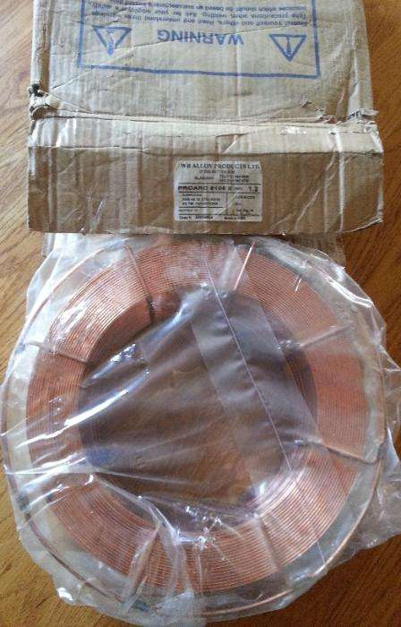 New 16kg copper coated flux cored mig wire 0