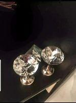 Uchwyt do spinania zasłon/rozeta 2 szt. Kryształ glamour