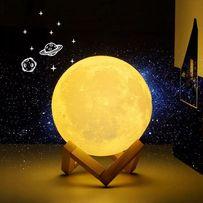 LAMPKA NOCNA świecący KSIĘŻYC 3D MONN LIGHT lampa ziemiająca kolor led