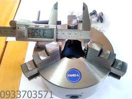 Патрон токарный диаметр 125мм, 3-х зажимной, сквозное 38мм диаметр.