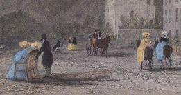 The Baths on the Beach, litografia antyk 1831 Thomas Allom