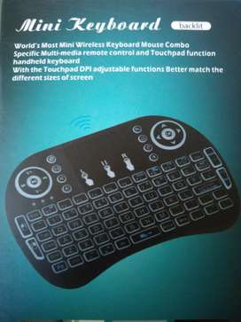 Mini Wi-Fi- Multimedia SMART TV Keyboard With Touchpad & Backlight