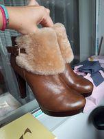 Ботинки, полусапоги, ботильоны зимние из натуральной кожи с натур.мех