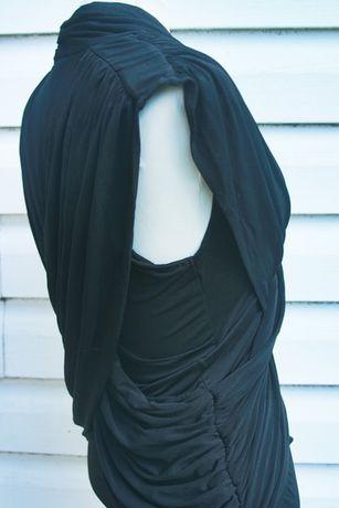 czarna elegancka dopasowana sexy sukienka french connection Sławno - image 4