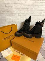 Ботинки, кожа, Louis Vuitton, брендовая обувь