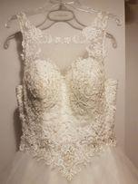 Szczęśliwa suknia ślubna szuka Panny Młodej! 36 38 40 księżniczka