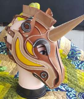 Leather Unicorn Mask, Cosplay (order yours today!)