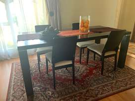 Fridge, Dining Set and Couch: All together