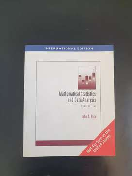 Mathematical Statistics and Data Analysis textbook for sale