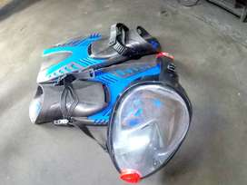 Snorkel set - Fins and full face mask