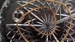 Złoty łańcuszek,Pozłacany łańcuszek,Biżuteria NOWA,złoto,srebro,585
