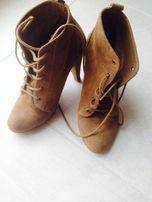 Продам ботинки замшевые Bershka