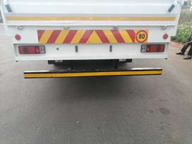 8 ton dropside truck with driver