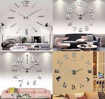 Бескаркасные часы 3Д на стену. Большие настенные часы Original Clock