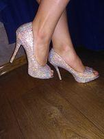 Туфли в стразах,на выпускной,свадьбу