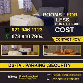 Rooms at an affordable price book now, for a short  stay.