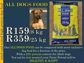 All dogs high protein dog food
