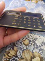 Калькулятор на солнечных батареях рабочий размером с кредитку