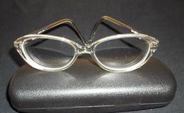 Okulary damskie korekcyjne ze szkłami -3,5lewe -3,75prawe dioptrii