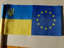 Флаг Украины / ЕС для авто