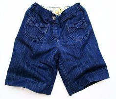 NEXT śliczne SPÓDNICO SPODNIE jeans kokardki 104