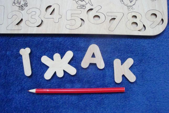 Алфавит, азбука , сортер, пазлы из дерева Чернигов - изображение 3