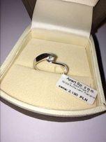 Nowy pierścionek apart z brylantem - r. 17
