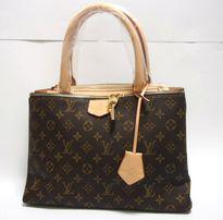 LV Brązowy damski kuferek elegancka torebka z wzorem