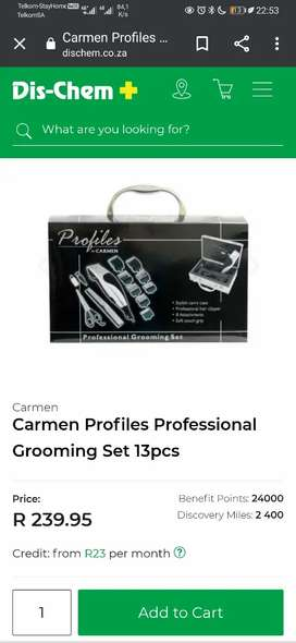 PROFILE HAIR CLIPPERS