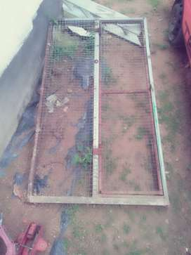 Urgent sale steel shelve and gate