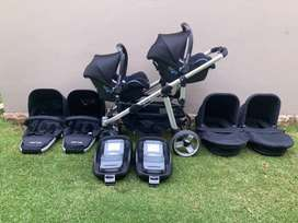 Double Delux (Isofix) Twin Travel System