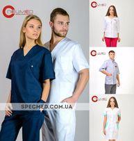 Медицинский халат Медицинский костюм Медицинская одежда розница и опт.