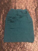 Юбка бирюзовая размер м одежда женская одесса платье одяг карандаш