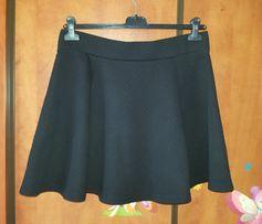 Spódnica L czarna asymetryczna trapezowa