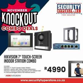 """Hikvision 7"""" touch-screen indoor station combo !"""