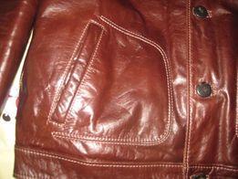 Зимняя кожаная куртка 54 размера