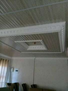 Pvc ceiling installation and wall painting