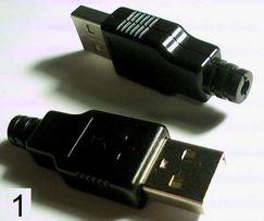 разъём штекер USB на кабель разъем