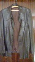 Męska, brązowa kurtka skorzana na okolo 180-185cm