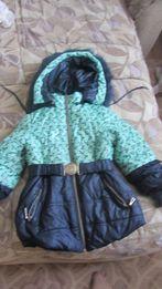 Зимняя курточка на девочку 3-4-5 лет