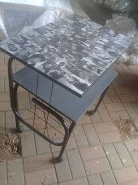 Utility Table (Black And White) Comes With Stool
