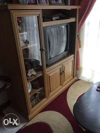 Image of TV and. Cabinet